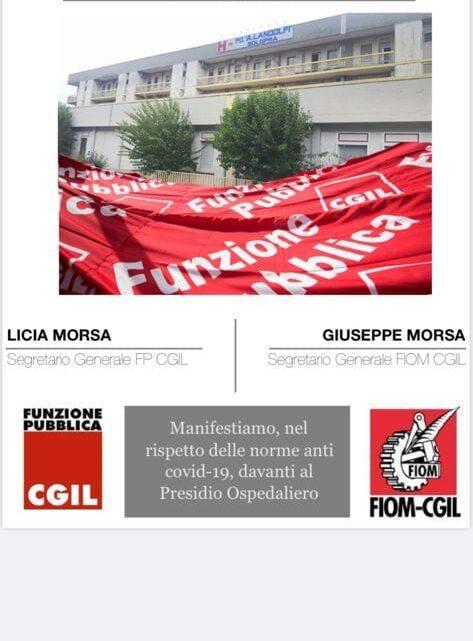 SOLOFRA – #NoiSiamoilLandolfi: FLASH MOB AVVERSO CHIUSURA OSPEDALE