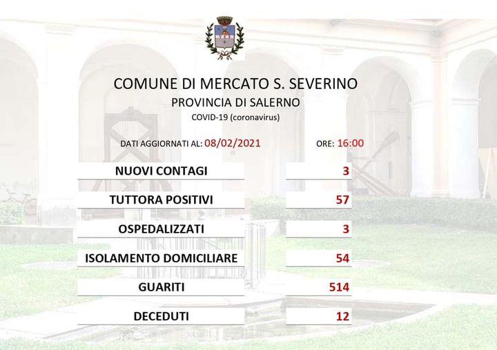 MERCATO SAN SEVERINO – EMERGENZA COVID-19: EMERSE TRE POSITIVITÀ