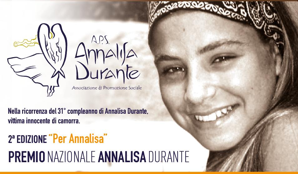 CAMPANIA – IN STREAMING LA II EDIZIONE DEL PREMIO NAZIONALE ANNALISA DURANTE