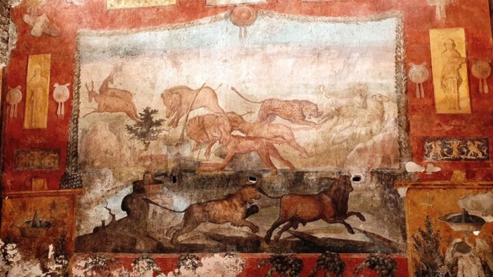 POMPEI – TORNA AL SUO SPLENDORE IL GRANDE AFFRESCO GIARDINO CASA DEI CEII