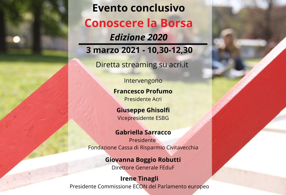 """EVENTI – FONDAZIONE CASSA DI RISPARMIO SALERNITANA, """"PROGETTO CONOSCERE LA BORSA 2020"""": CONCLUSIONE IN DIRETTA STREAMING"""