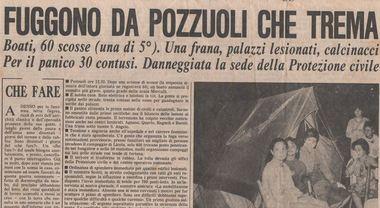 01 APRILE – IL TERRITORIO FLEGREO NON SMETTE DI FERMARSI, NEL 1984 SI CONTANO 500 SCOSSE