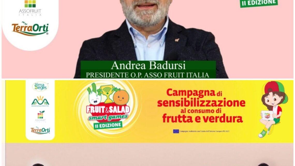"EVENTI – ANDREA BADURSI A ""FRUIT AND SALAD SMART GAMES"" PARLA DELLA FRAGOLA"