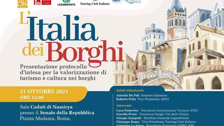 PROTOCOLLO D'INTESA PER VALORIZZAZIONE TURISMO E CULTURA NEI BORGHI ITALIANI
